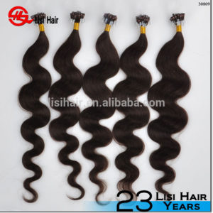 2015 China Supplier Double Drawn Best Selling In Dubai kinky curly micro loop hair extension