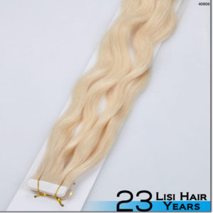 2015 best selling 6A grade natural body wave 100% human Peruvian tape hair extension