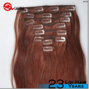2016 Best Selling Thick End Wholesale 24 inch clip in human hair extensions