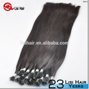 Double Drawn Thick High Quality Hair full cuticle nano ring hair extension