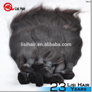 Factory price popular unprocessed virgin peruvian hair bulk,double drawn hair