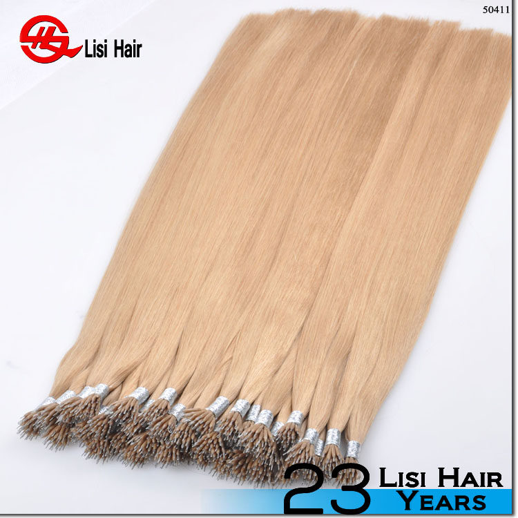 Keratin Glue Brand Name Remy Nano Ring Hair Extension Hair Weft