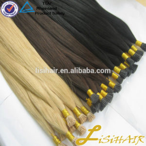 No shed no tangle factory price unprocessed virgin i-tip hair extension