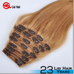 Top Grade Remy 120g 160g 180g russian perm clip in hair