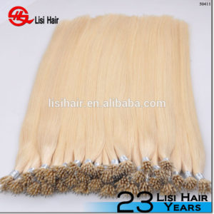 Trade Assurance Factory Wholesale Double Drawn Full Cuticle Remy Thick End nano ring hair extension