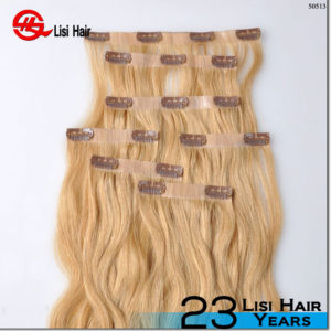 UK Market Hot Type-10 pcs 22clips Full Head Set Clip In Human Hair Extension, Indian Remy Clip On Hair Extension