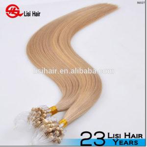 Wholesale 100% Remy Keratin Human Full Cuticle Russian micro loop ring hair extension