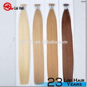 Wholesale Top Quality Double Drawn No Tangle Raw i tip hair extension