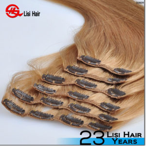 2016 human hair products best selling new style clip in hair extension