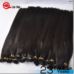 2017 new top quality unprocessed 100% natural indian human keratin hair