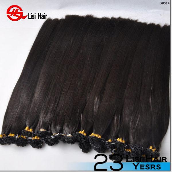 2017 new top quality unprocessed 100% natural indian human keratin hair