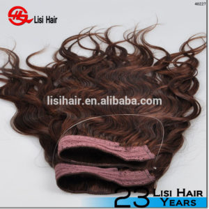 Full Cuticle 8A Grade Wholesale Brazilian Wavy Halo Hair Extensions