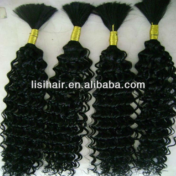 Large stock!!100% unprocessed direct factory 5a deep wave braiding hair