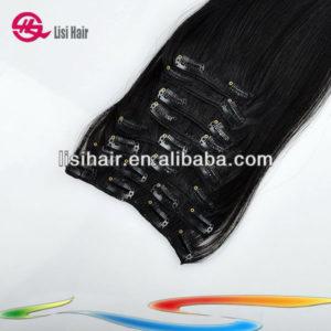 Natural Pure Hotsale Cheap Wholesale Top Beautiful Unprocessed Virgin Brazilian Clip Hair Kilogram