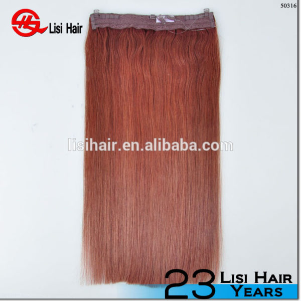 Super High Quality European Virgin Remy Halo Hair Extensions for White Women