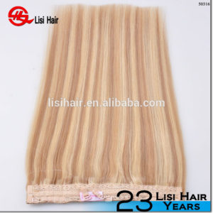 Wholesale price pretty looking virgin halo hair