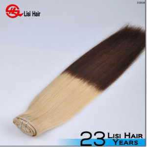 unprocessed virgin remy two tone clip in hair extensions
